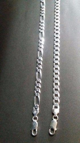 Promoção 2 Pulseiras Masculinas Prata 925 Elos 3x1, Grumet
