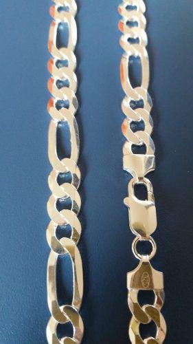 Corrente Grumet - Prata 925 - 70 Cm - Elos 3x1 8,4 Mm 50 Gr
