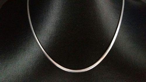 Colar - Prata 925 - Tipo Lacraia - 45 Cm -