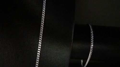 Corrente Prata Maciça 925 Elos Grumet 60 Cm + Pulseira 2,8mm