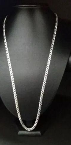 Corrente Grumet Prata 925 70 Cm 4,5 Mm + Pingente Cruz