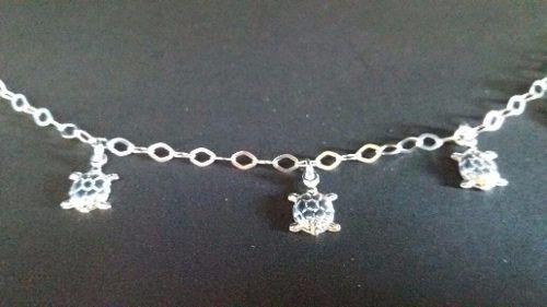 Linda Pulseira Feminina Prata 925 Maciça Modelo Tartarugas
