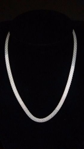 Colar Feminino Prata Maciça 925 Tramado 45 Cm 8,5 Gramas