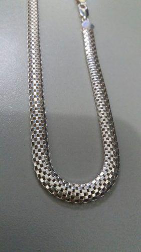 Colar Feminino Modelo Tramado 45 Cm 5,8 Mm Em Prata 925