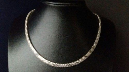 Colar Feminino Modelo Esteira 45 Cm 5,8 Mm Em Prata 925