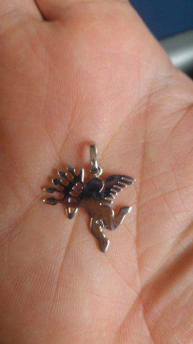 Pingente Em Prata 925 Modelo Anjo Com Flecha 1,5 Gramas