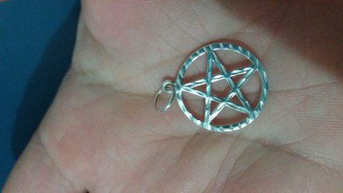Pingente Em Prata 925 Legítima Modelo Estrela De Davi 1,5 Gr
