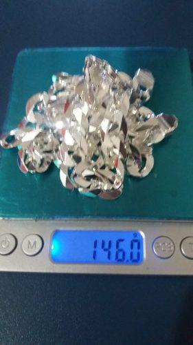Corrente Grumet 70 Cm, 13 Mm + Pulseira 13 Mm Prata 925 146g
