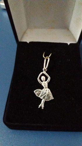 Pingente Modelo Bailarina Em Prata 925 Legítima 1,2 Gramas