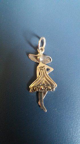 Pingente Em Prata 925 Modelo Madame De Chapéu 1,3 Gramas