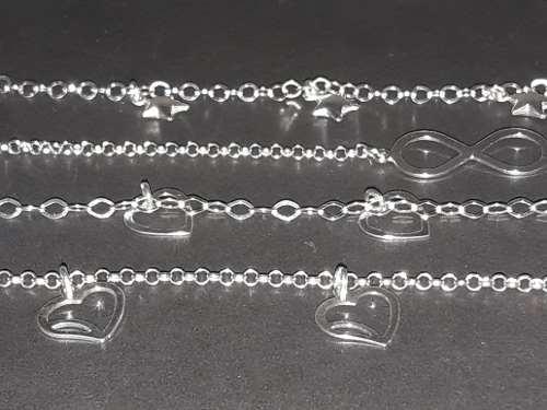 Promoção 4 Pulseiras Sortidas Prata 925