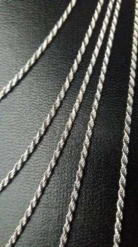 Super Promoção Conjunto 5 Cordões Baiano Prata 925 Maciça