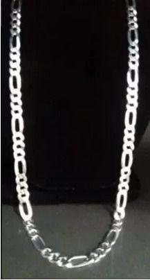 Cordão Corrente Prata 925 Maciça Grumet Elos 3x1 90cm 9 Mm