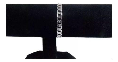 Pulseira Masculina Grumet 8mm Em Prata 925 14 Gramas 20cm