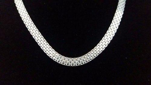 Colar Feminino Prata Maciça 925 Esteira 45 Cm 8,5 Gramas