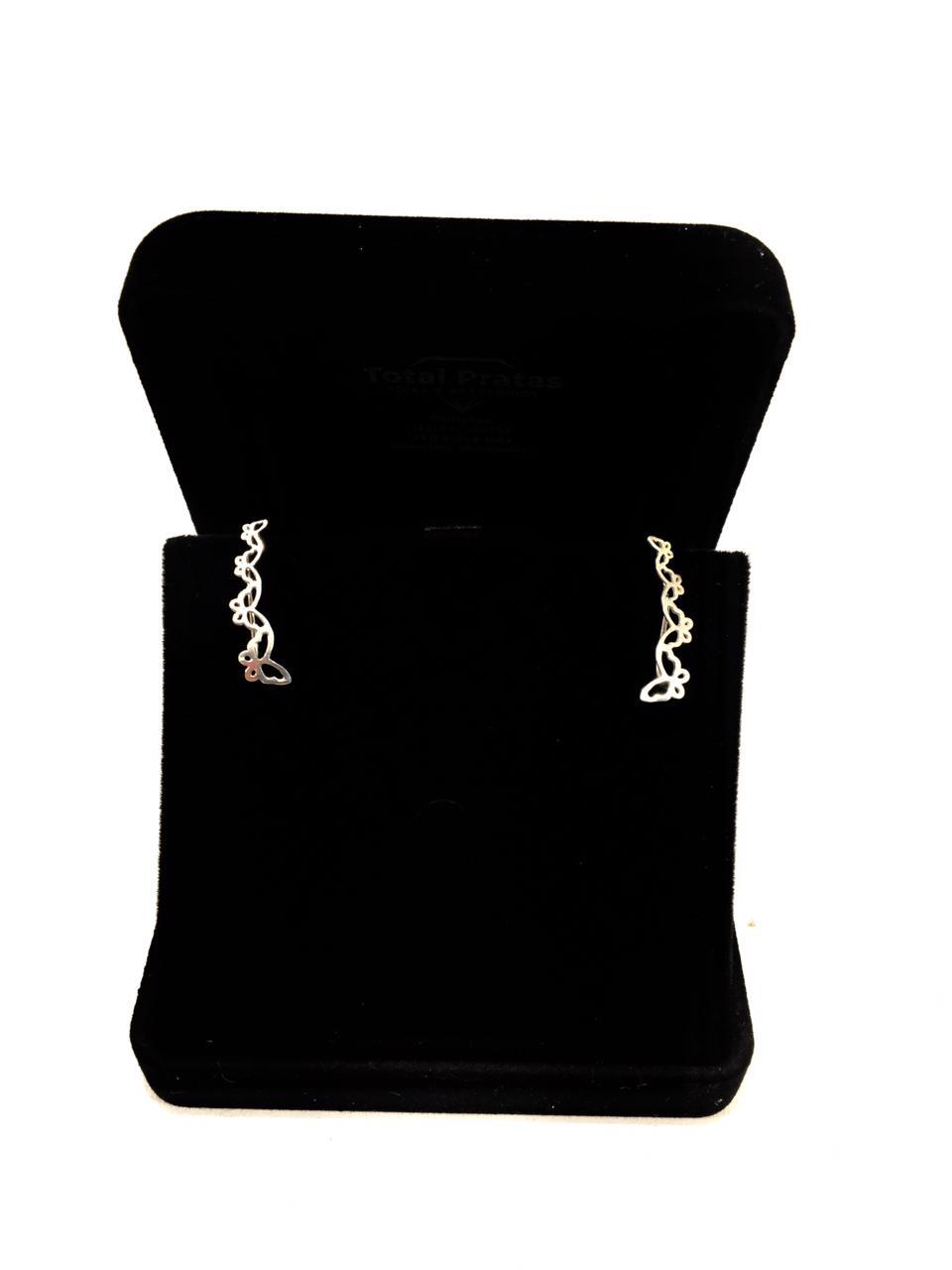 Brinco Ear Cuff Borboleta Prata 925