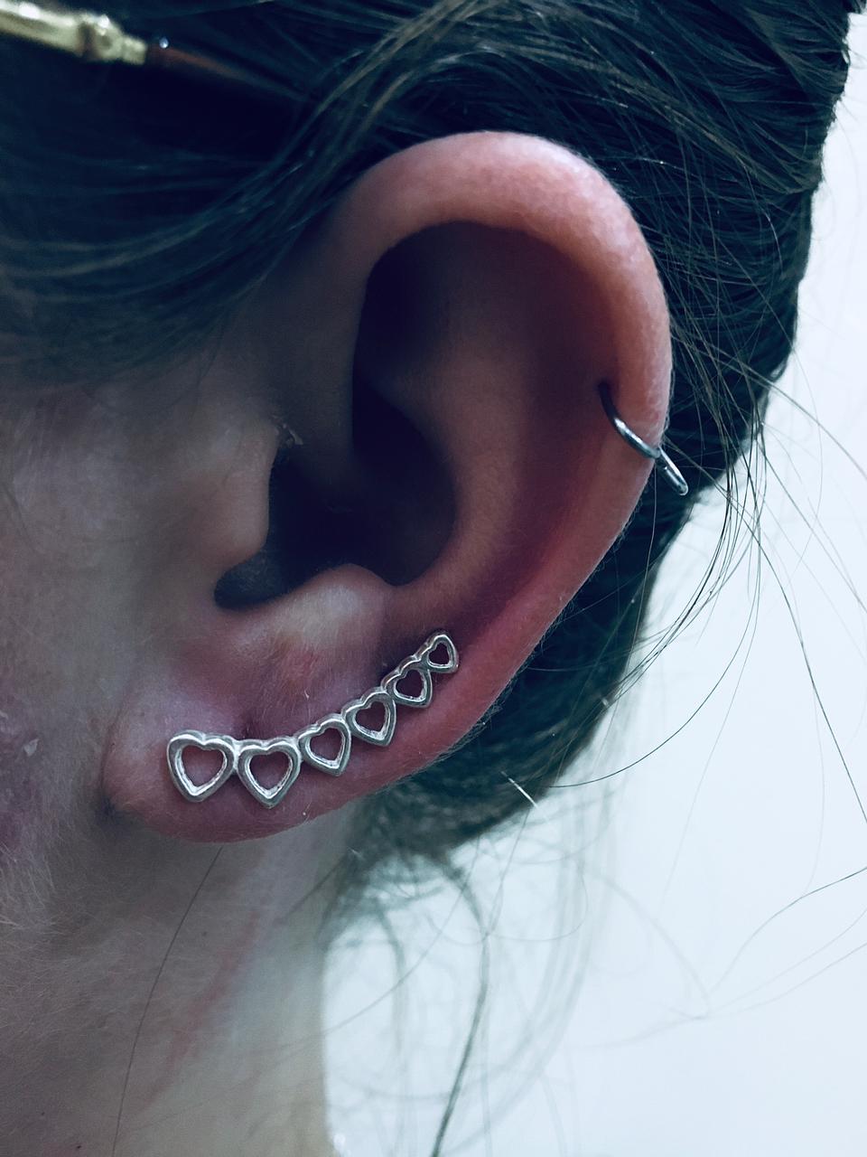 Brinco Ear Cuff Prata 925