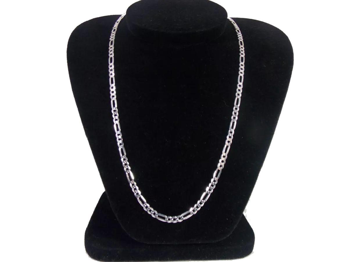 Cordão Prata 925 Maciça Elos 3x1 80 Cm 4,6 Mm 17,2 Gramas