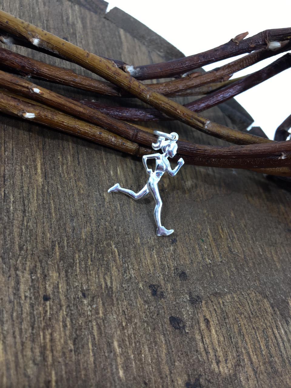 Pingente Corredora prata 925