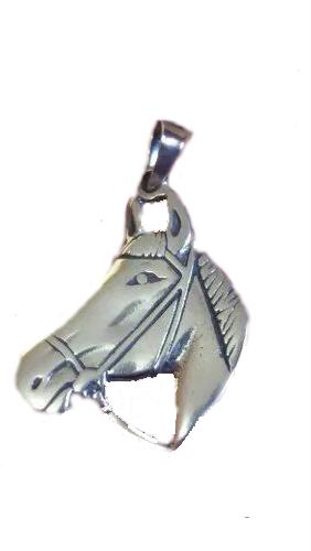 Pingente Em Prata 925 Legítima Modelo Cavalo 2,5 Gramas