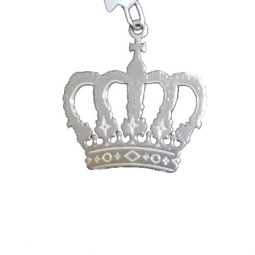 Pingente Em Prata 925 Modelo Coroa 2,1 Cm X 2 Cm.