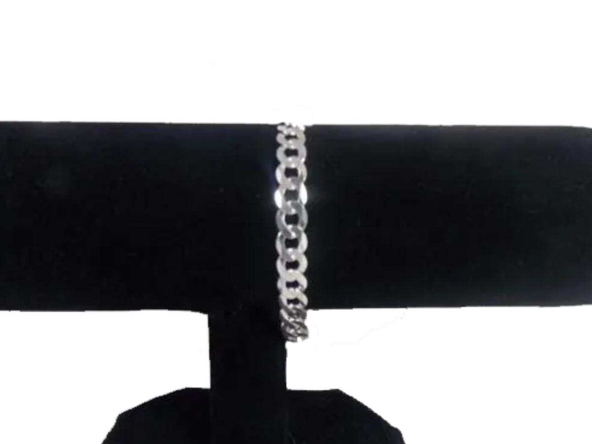 Pulseira Masculina Grumet 8mm Em Prata 925 18cm