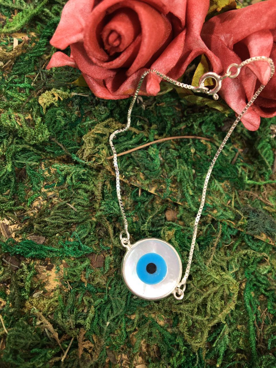 Pulseira Olho Grego de prata 925
