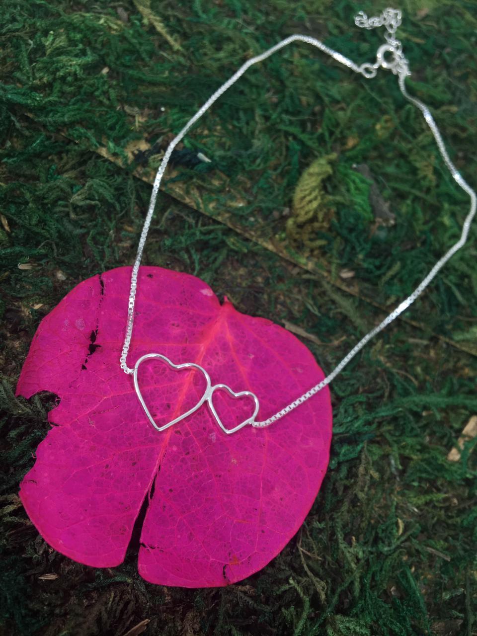 Tornozeleira Coração Vazado com extensor