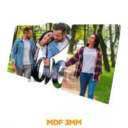 PORTA RETRATO MDF A3 LOVE COM 2 FOTOS