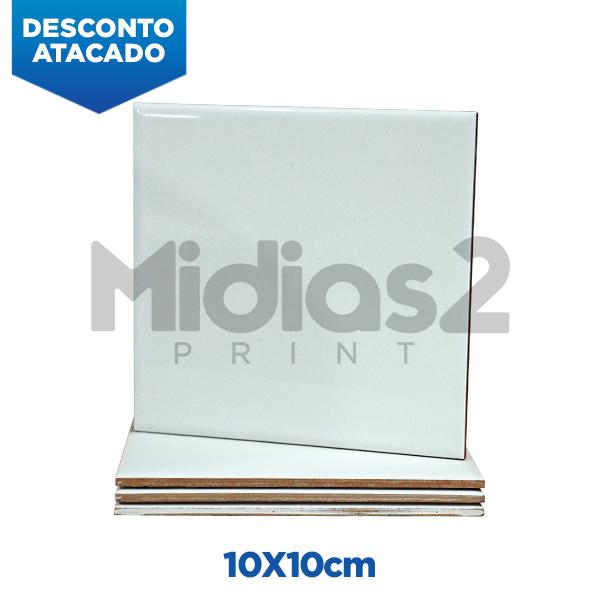 AZULEJO CERÂMICA SUBLIMÁTICO - 10x10 CM - BRANCO