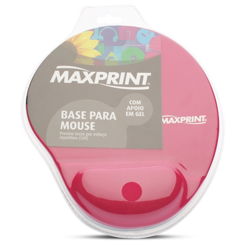 BASE PARA MOUSE C/ APOIO EM GEL ROSA - MAXPRINT