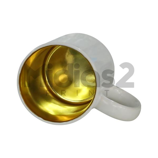 CANECA 325ML COM INTERIOR CROMADO - LIVESUB