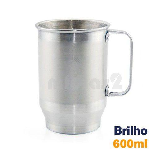 CANECA 600ML ALUMINIO COM BRILHO SUBLIMÁTICA
