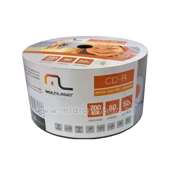 CD-R MULTILASER 700MB