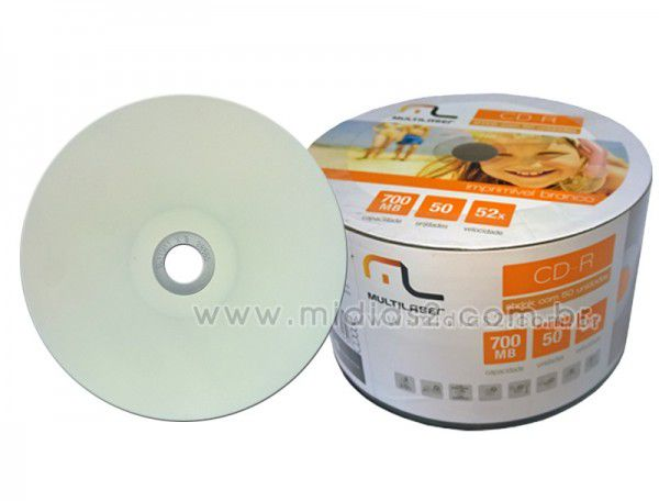 CD-R MULTILASER 700MB PRINTABLE
