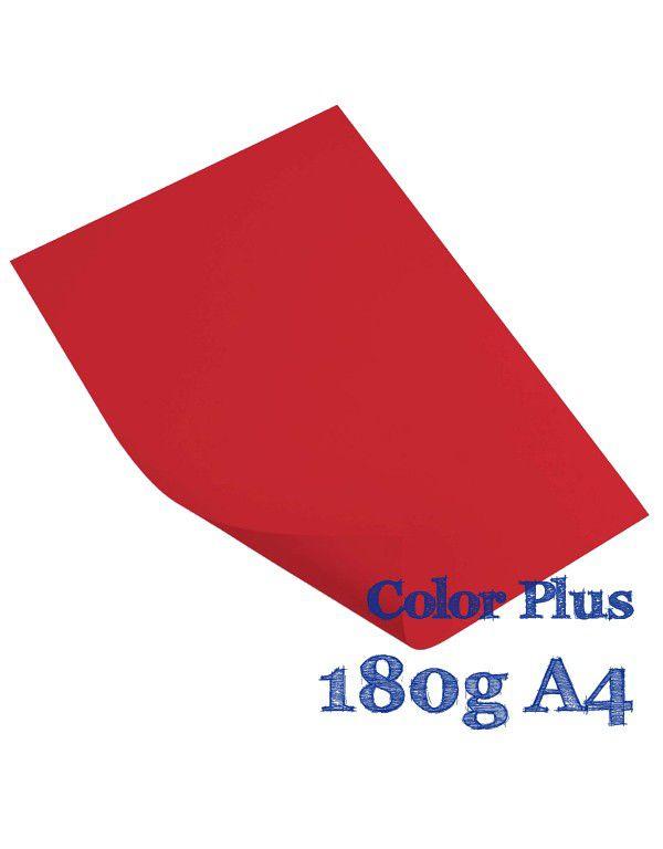 COLOR PLUS A4 TOQUIO 180G VERMELHO COM 20 FLS