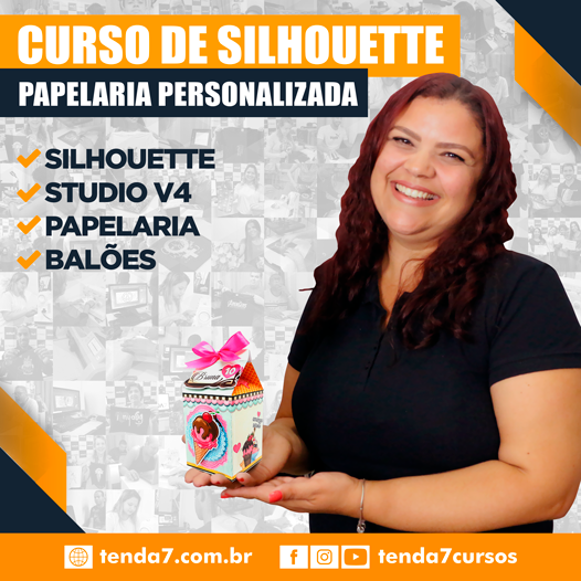 CURSO PRESENCIAL - SILHOUETTE E PAPELARIA CRIATIVA