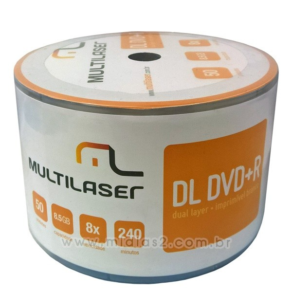 DVD+R DL MULTILASER 8.5GB PRINTABLE