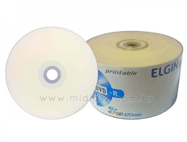 DVD-R ELGIN 4.7GB PRINTABLE