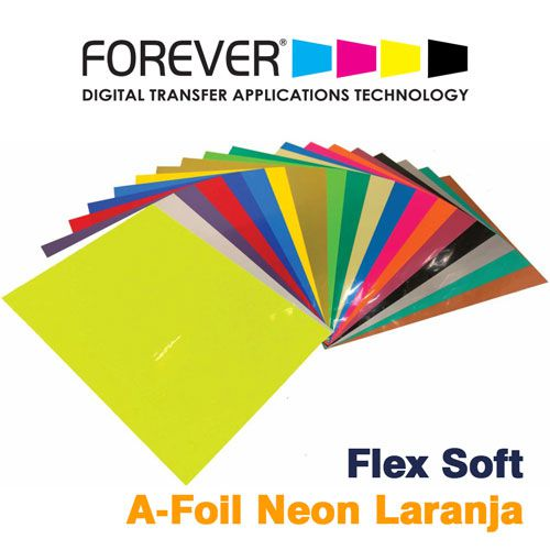 FLEX SOFT A4 NO CUT A-FOIL NEON LARANJA - FOREVER - 1 FL