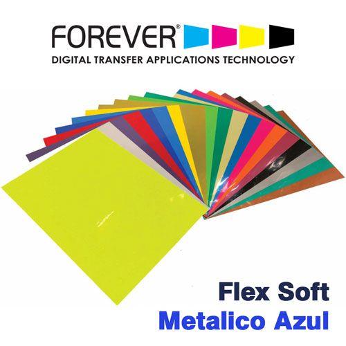 FLEX SOFT A4 NO CUT METALICO AZUL - FOREVER