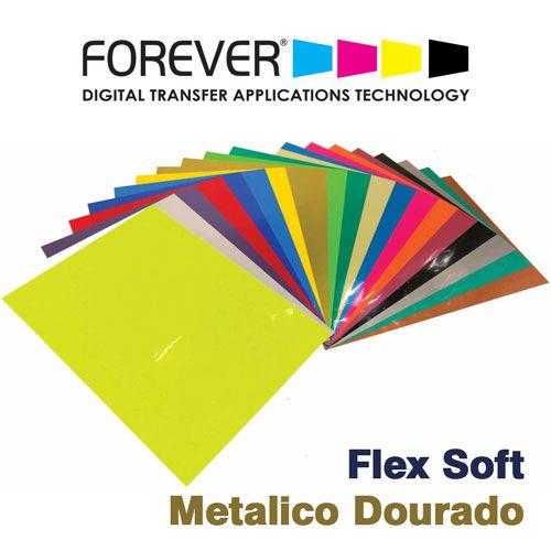 FLEX SOFT A4 NO CUT METALICO DOURADO - FOREVER