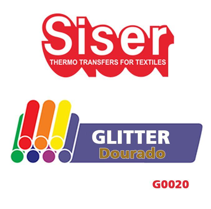 GLITTER PU DOURADO 50X50 CM G0020 - SISER