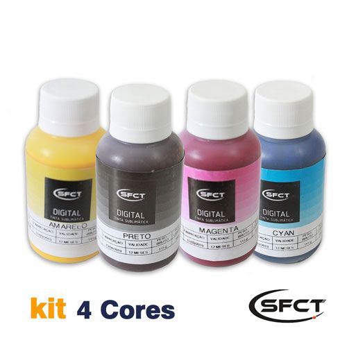 KIT 4 CORES - TINTA SUBLIMATICA SUBLIDESK 400ML - SFCT