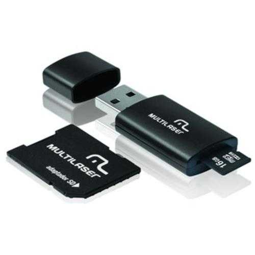 MICRO SD+PEN DRIVE 16GB CLASSE 10 MC112 MULTILASER