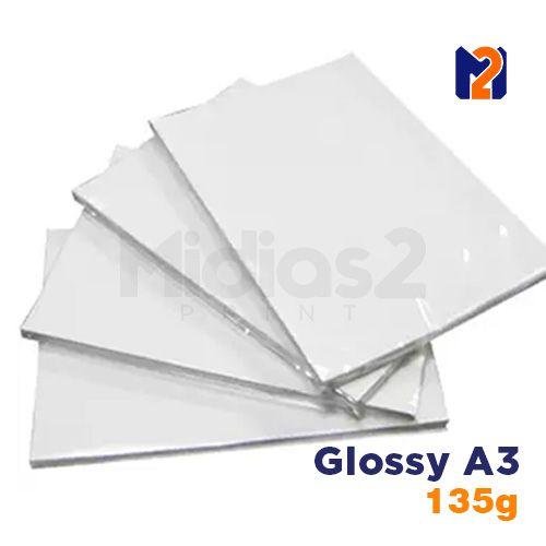 PAPEL A3 FOTO GLOSSY 135G - M2 - 20 FLS