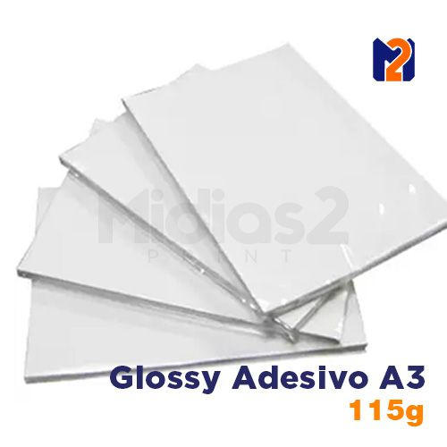 PAPEL A3 FOTO GLOSSY ADESIVO 115G 20 FLS - M2