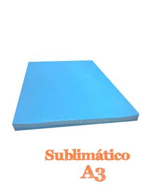 PAPEL A3 SUBLIMATICO FUNDO AZUL COM 10 FLS - M2
