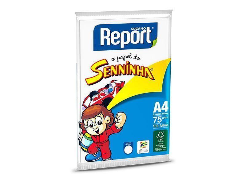 PAPEL A4 75G SENNINHA COM 100 FLS - REPORT