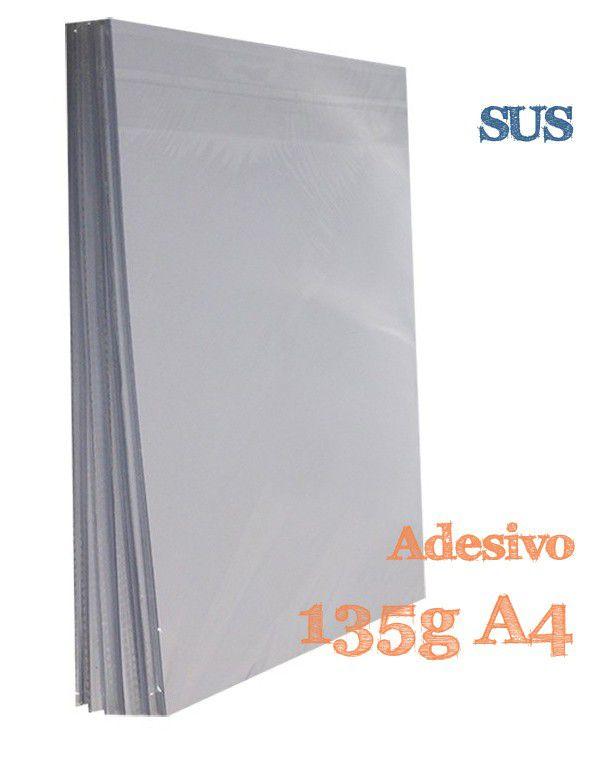 PAPEL A4 GLOSSY ADESIVO 135G COM 20 FLS - SUS